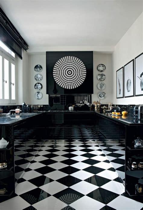 cuisine noir blanc carrelage damier noir et blanc cuisine 28 images