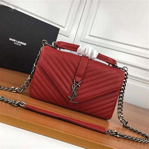 saint laurent ysl women college medium  matelasse leather red ysl college bag medium ysl