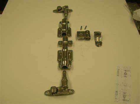 mm polished stainless steel door lock cam type anti rack external lock kit moore industrial