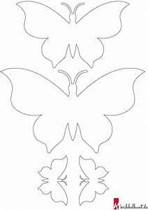 35, Schmetterling, Schablone, Zum, Ausschneiden