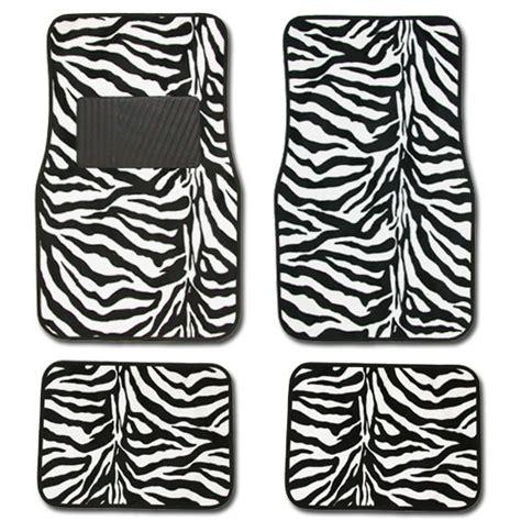 Zebra Doormat by 15pc Safari Zebra Car Seat Covers Steering Wheel Mats Ebay