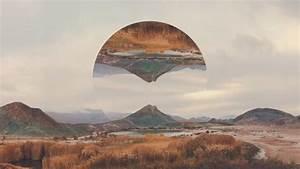 Reflection Polyscape Wallpaper