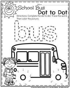 back to school preschool worksheets school buses 503 | 85078733bcc7761bc28fa82b5b1f5b8c