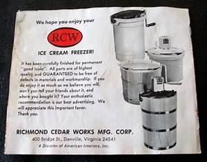 Rcw Ice Cream Maker Instruction Manual