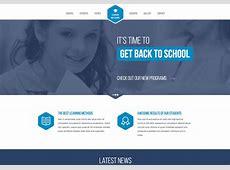 High School Responsive Website Template