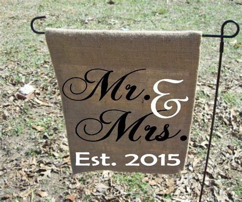 mr mrs personalized garden flag personalized wedding gift