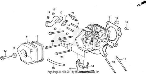 honda eb5000x a generator jpn vin ea7 3000001 parts diagram for cylinder