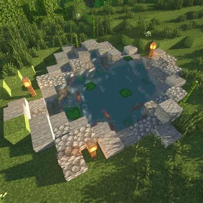 Minecraft Aesthetic Houses Cool Fountain Blueprints Buildings