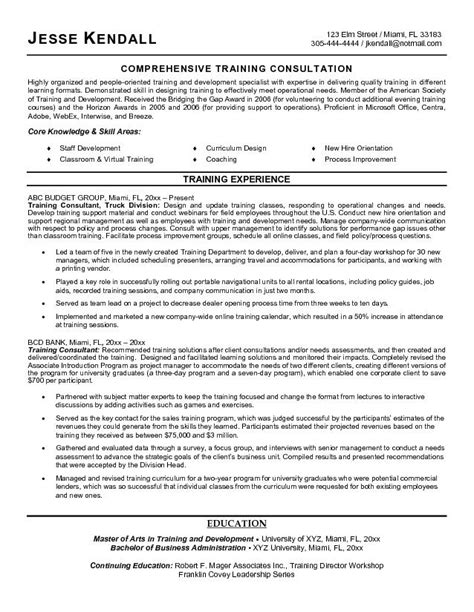 Exle Resume For Consultant by Resume Sle Best Management Consultant Resume Sle