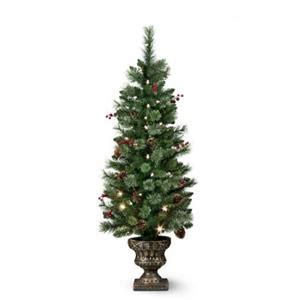4 lighted pre lit cordless christmas porch tree topiary