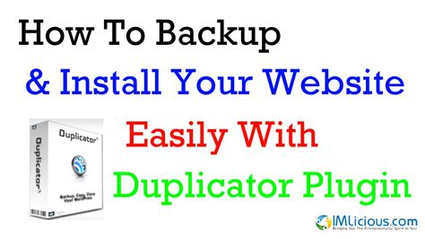 how to easily install your duplicator how to backup install your website easily youtube