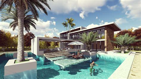 Lumion Landscape Design And Render Modern Vila Design 13