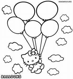 Balloon coloring pages | Coloring pages to download and print