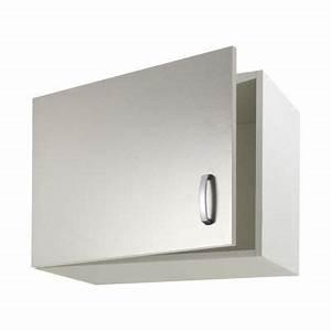 Meuble Haut Profondeur 20 Cm : meubles haut sur hotte 1 porte 60 cm castorama ~ Dailycaller-alerts.com Idées de Décoration