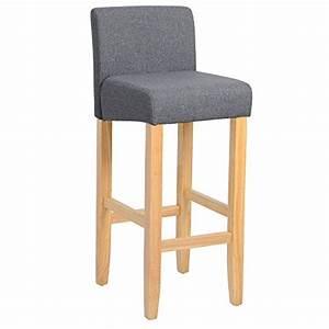 Tabouret De Bar En Bois Avec Dossier : woltu 4 x tabouret de bar en lin assises chaises de bar en bois avec dossier bh02 4 tabouret ~ Melissatoandfro.com Idées de Décoration