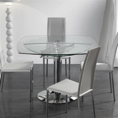Tavoli Di Cristallo Sala Da Pranzo by Tavolo Quadrato Allungabile Vetro Tavoli Allungabili Per