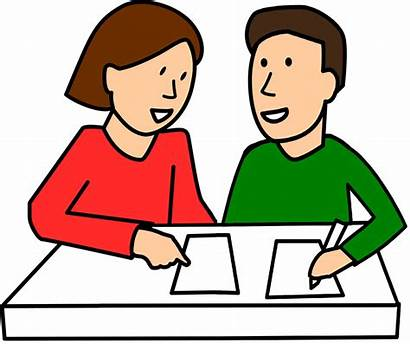 Clipart Writing Pair Parents Think Class Students
