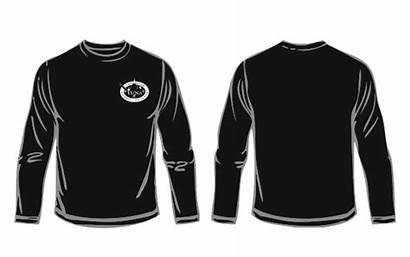 Sleeve Shirt Template Clipart Transparent Longsleeve Clip
