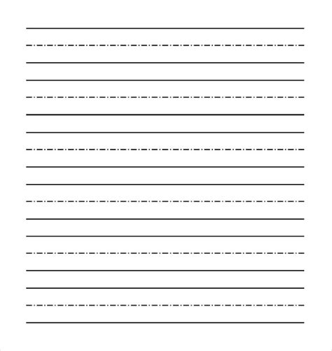word lined paper templates  premium templates