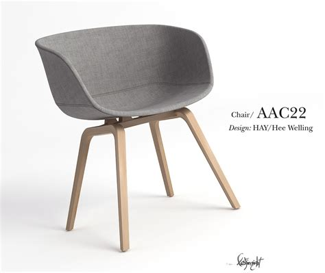 aac22 chair 3d model max cgtrader