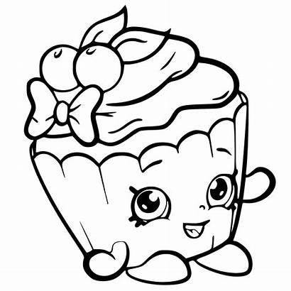 Shopkins Season Coloring Pages Cupcake Cherry Apple