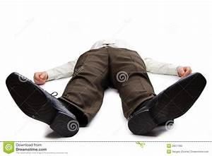 Young Businessman Lying On The Floor Stock Photo - Image ...
