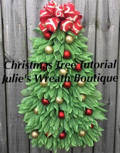 christmas tree tutorial diy christmas wreath tutorial video