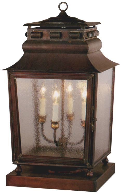 jackson new orleans pier base column copper lantern light