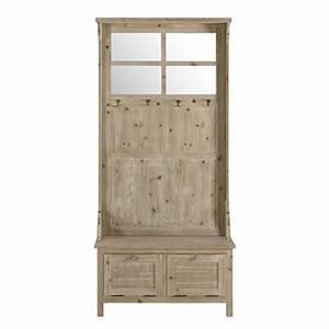 meuble d39entree et a chaussures maisons du monde With meuble d entree maison du monde 8 banc avec coffre de rangement en bois de sapin et coton l