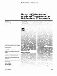 Coronary Cta