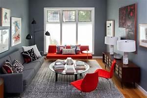 Wandfarben Wohnzimmer Beispiele : 100 ideen f r wohnzimmer frischekick mit farben ~ Markanthonyermac.com Haus und Dekorationen