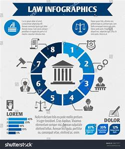 Law Legal Justice Infographics Charts Diagrams Stock