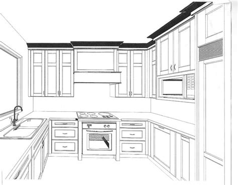 draw kitchen cabinets drawing images cabinet design