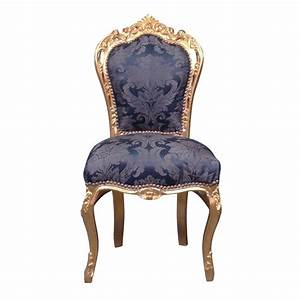 Chaise Style Baroque : chaise baroque bleue style rococo ~ Teatrodelosmanantiales.com Idées de Décoration