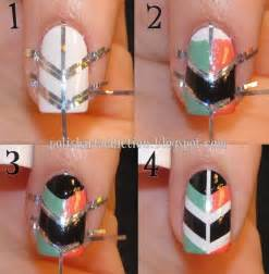 How to make cool shield nail art step by diy