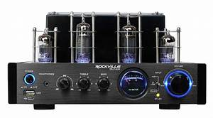 Rockville Tube Amplifier Amp Bluetooth Receiver For