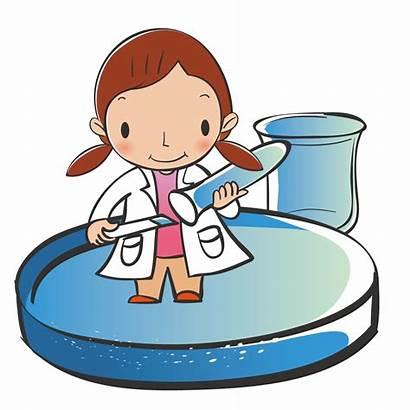Science Clipart Scientist Study Cartoon Transparent Clip
