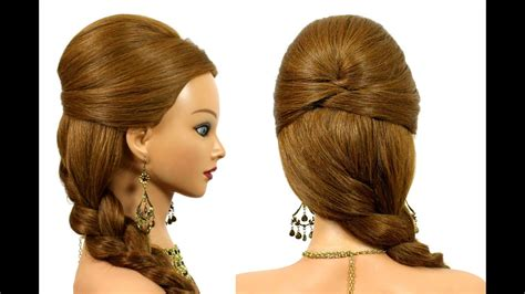 easy prom hairstyle for long hair tutorial youtube