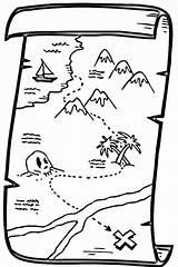 Treasure Coloring Map Pirate Pages Colouring Maps Printable Clipart Drawing Chest Cartoon Clip Canada Schatzkarte Piraten Malvorlage Animated Fantasy sketch template