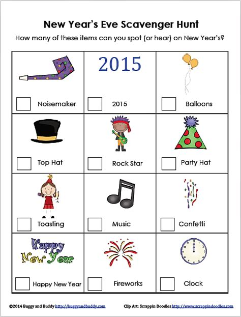 new year s for scavenger hunt free printable