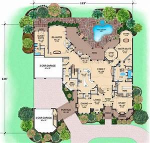 Mediterranean, House, Plan