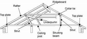 diagram of a roof frame showing the top plate rafter With rooftypesdiagram2