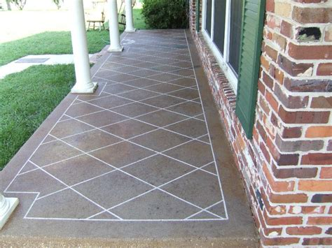 stained concrete patio patterns home decorating excellence