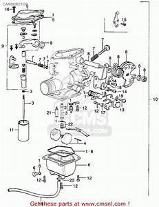 Honda Xl250 Motosport K0 1975 Usa Carburetor