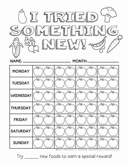 Chart Healthy Eating Printable Reward Coloring Pages