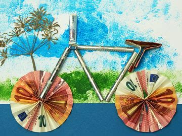 ein fahrrad als geldgeschenk basteln gestalten