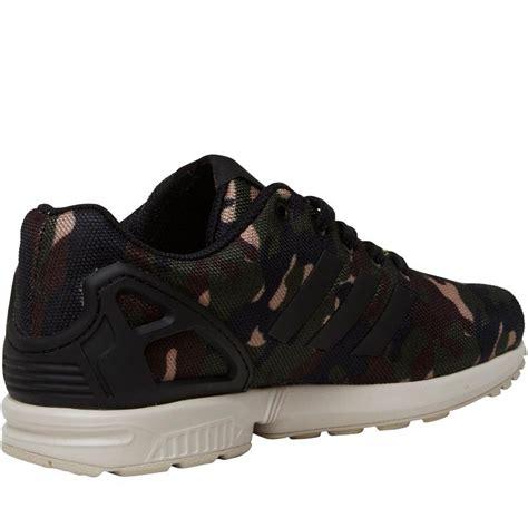 adidas originals jungen zx flux sneakers tarnfarbe