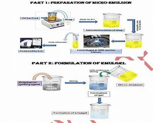 The Flow Chart Of Micro Emulsion Gel Preparation