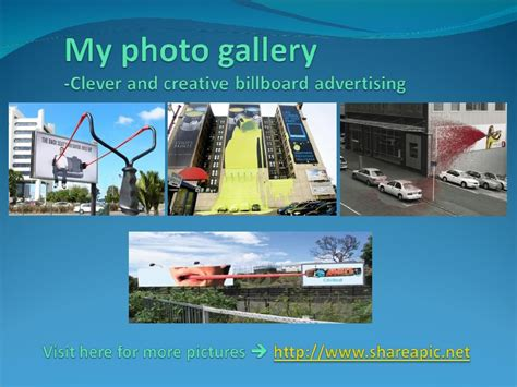 My Photo Gallery Clever And Creative Billboard Advertising
