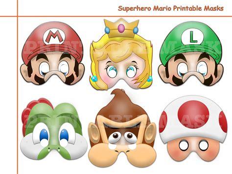 Unique Hero Mario Printable Masks Holidaypartystar